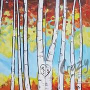 Birch Trees Set