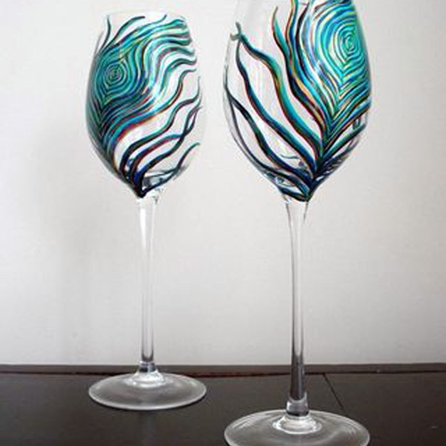 Wine Glass Peacock Feathers.jpg
