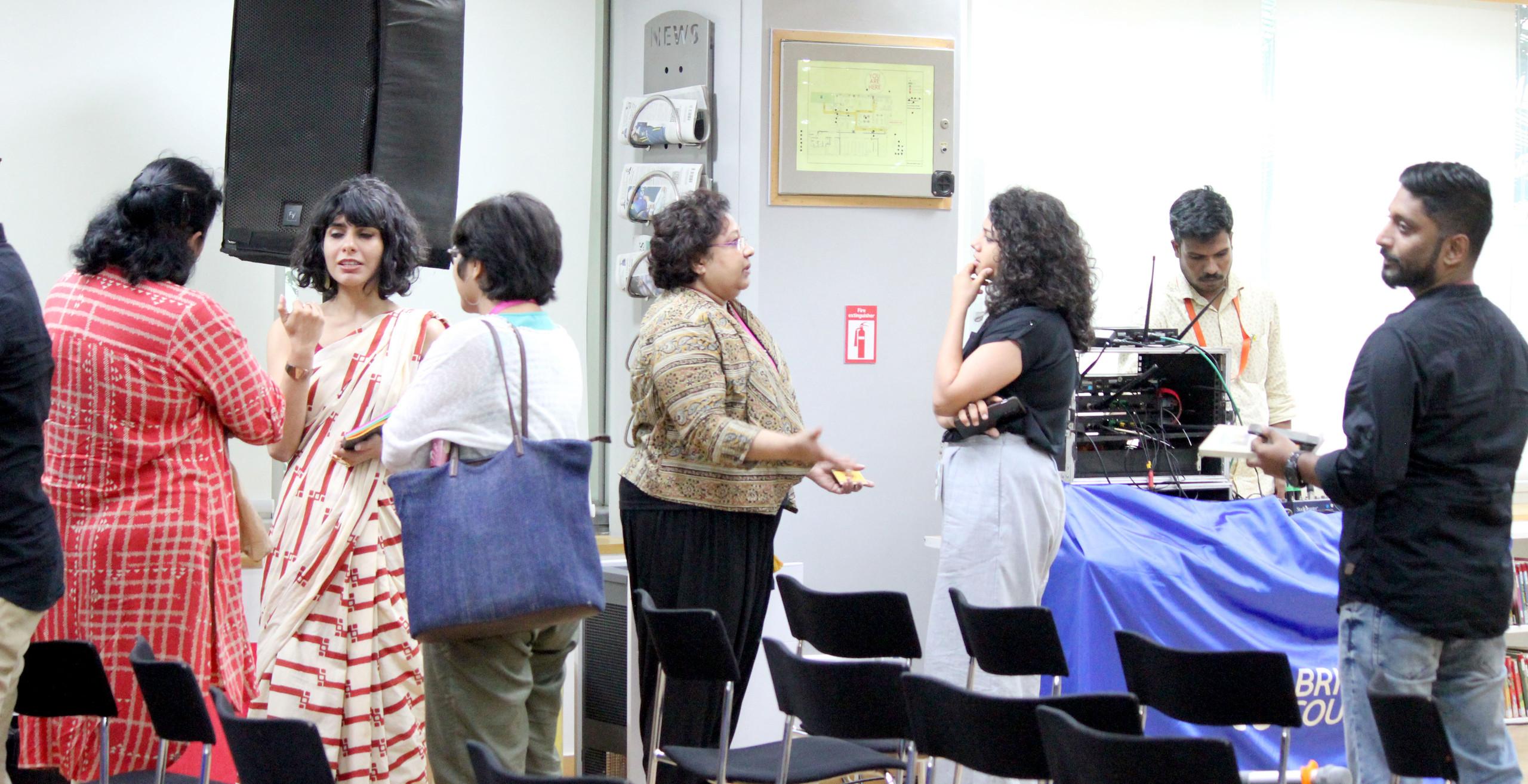 ACRI Bengaluru British Council Festival Connections Babitha George Rashmi Dhanwani Divya Galagali Abhishek Madan
