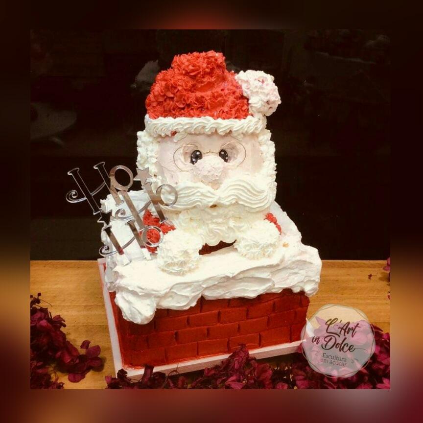 Bolo Quadrado Noel em Chantininho