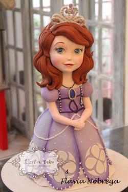 Bolo Esculpido Princesinha Sofia