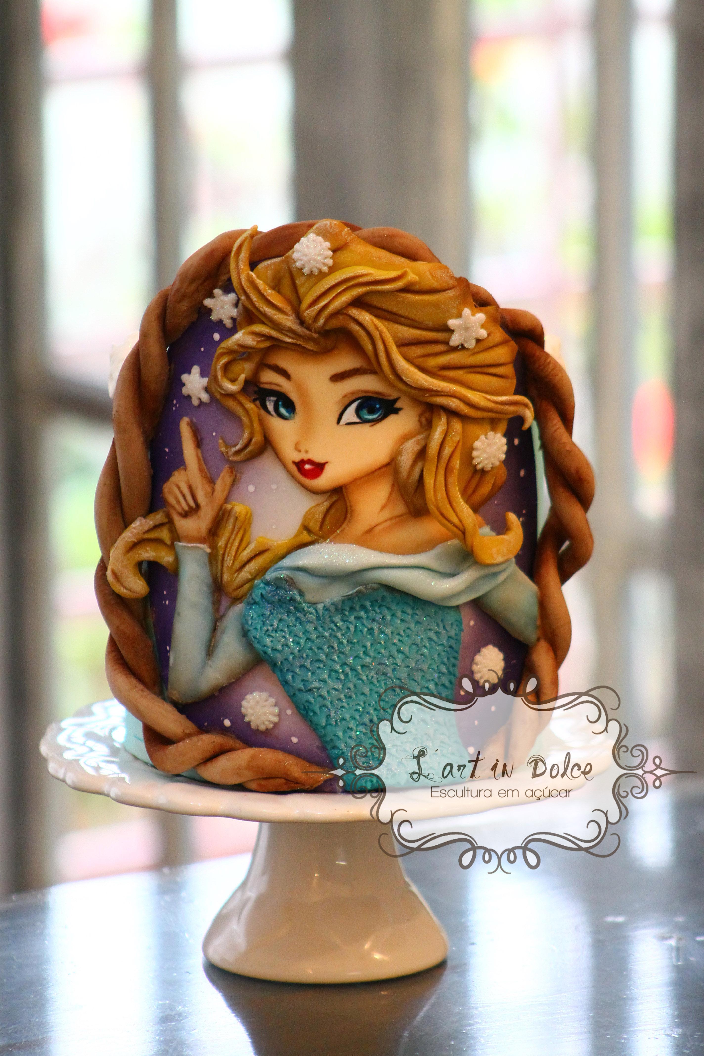Decoração de Bolo - Elsa