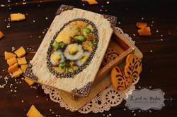 Caixa de Bolachas Floral