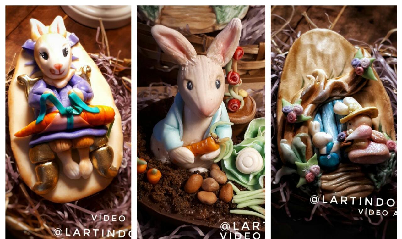 Modelagens para Ovos de Páscoa Médio