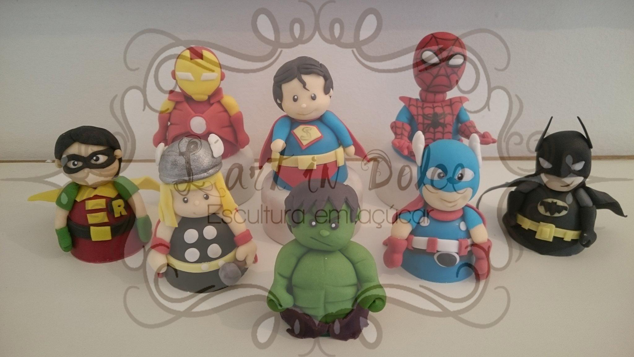 Modelagens Super Heróis - Trufas