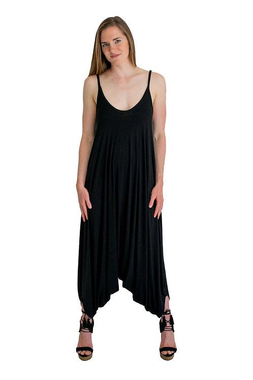 Bali Black Bamboo Jumpsuit
