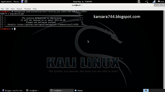 HACKING ANDROID DEVICE USING METASPLOIT BACKDOORS