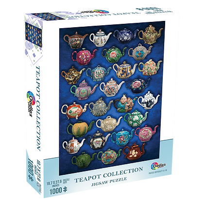 Teapot Collection 1000 Piece Jigsaw Puzzle