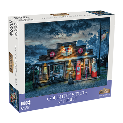Country Store at Night 1000 Piece Jigsaw Puzzle