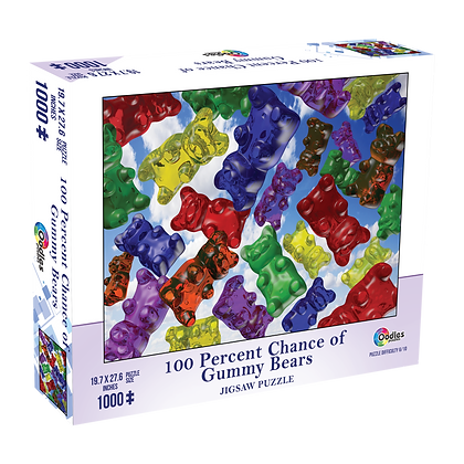 100 Percent Chance of Gummy Bears 1000 Piece Jigsaw Puzzle