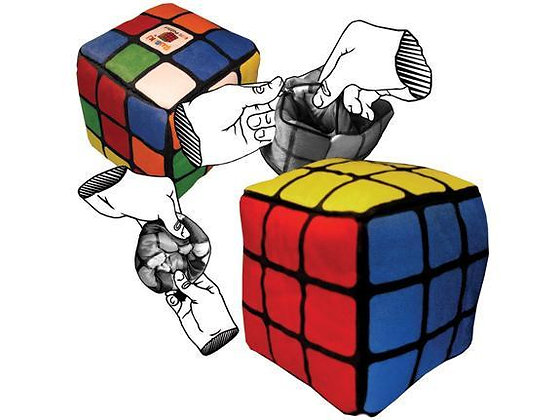 Rubiks Cube Transformable Plush