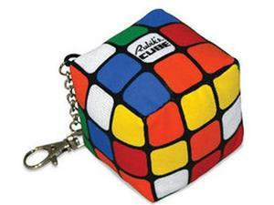Rubiks Cube Plush Keychain