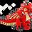 Thumbnail: Red Dragon Plush (+Mini) Bundle