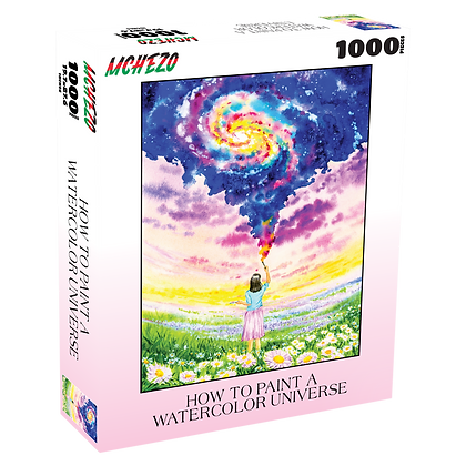 How to Paint a Watercolor Universe 1000 Piece Jigsaw Puzzle