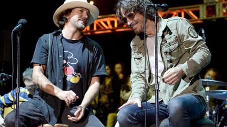 """Temple of The Dog: a última vez que Cornell e Vedder cantaram juntos a canção """"Hunger Strike"""""""