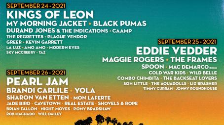 Pearl Jam: setlist do show no Ohana Festival, California - 26/09/2021
