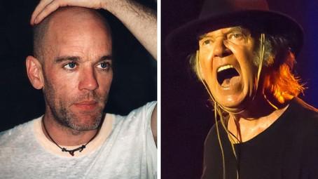 """Neil Young: quando se juntou ao R.E.M. para tocarem a música """"Country Feedback"""""""