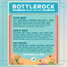 Foo Fighters: setlist do show no Bottle Rock Festival, California - 05/09/2021