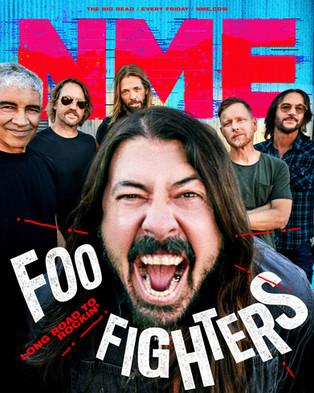 Foo Fighters: capa de revista da New Music Express 2021