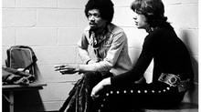 Jimi Hendrix: relaxando nos bastidores junto com o Rolling Stones em 1969
