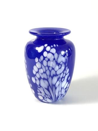 Cobalt & White Opal Vase