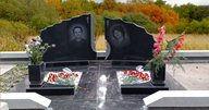 Гранитный памятник на могиле