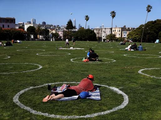 Mimicking Brooklyn, four SF parks adopt social distancing circles