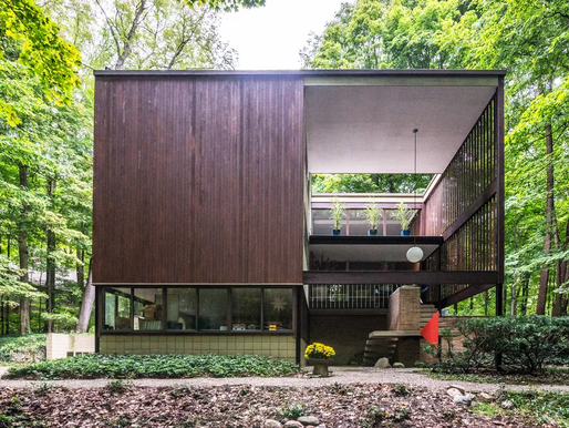"Mid-Century ""Cube"" House Just Outside Detroit Now Wants $635K"