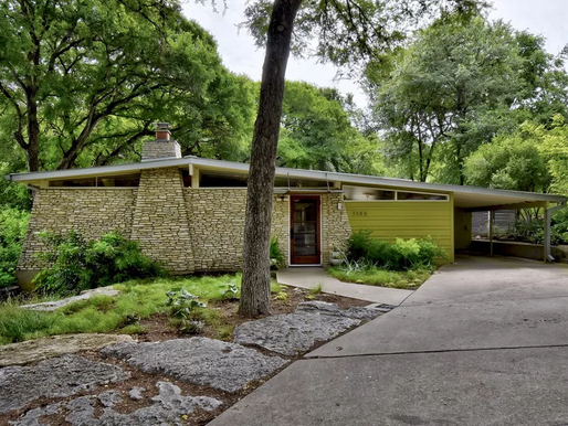 Austin Mid-Century Modern With an Avocado-Green Kitchen Asks $1.6M