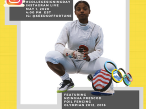 Reach Higher and Better Make Room College Signing Day with Olympic fencer Nzingha Prescod in Partner