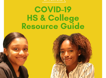 Seeds of Fortune Inc. COVID-19 Resources for High School and College Students