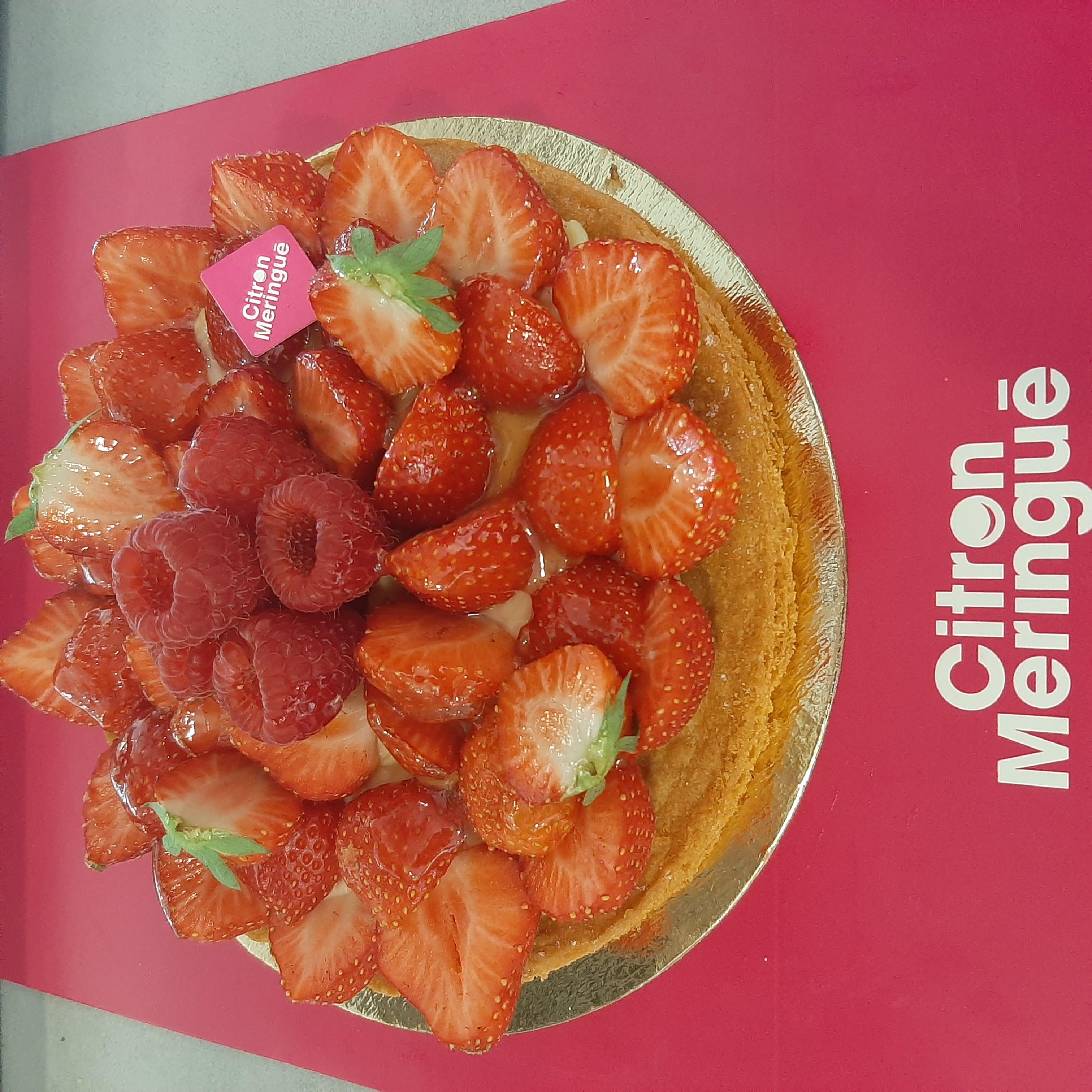 Tarte fraises Citron Meringué France
