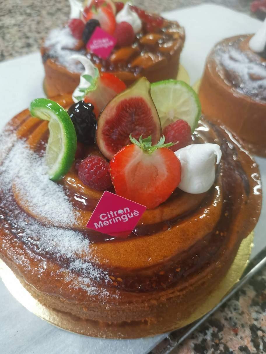 Cake Citron Framboise Citron Meringué