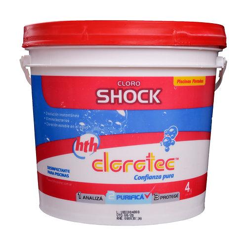 Cloro Shock Clorotec Disolución Instantánea x4Kg
