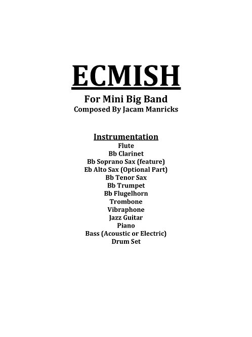 ECMISH - MINI BIG BAND SHEET MUSIC
