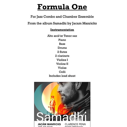 Formula One - For Jazz Combo and Chamber Ensemble
