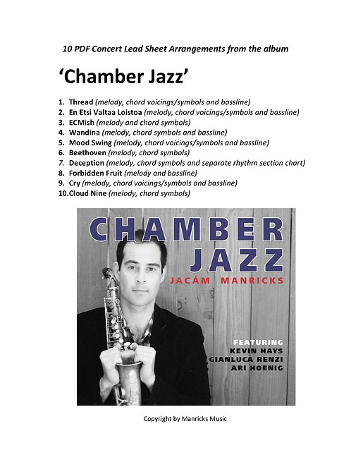10 Lead Sheet Arrangements from the album - Chamber Jazz