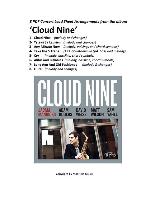 8 Lead Sheet Arrangements From Cloud Nine