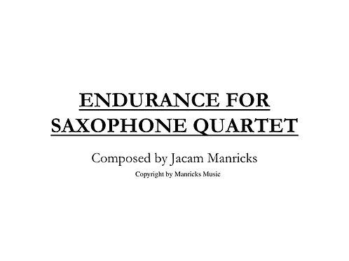 Endurance For Saxophone Quartet