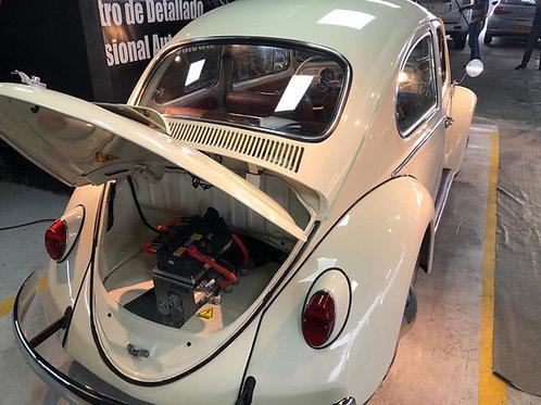Conversión en Volkswagen escarabajo a eléctrico con sistema de 72v