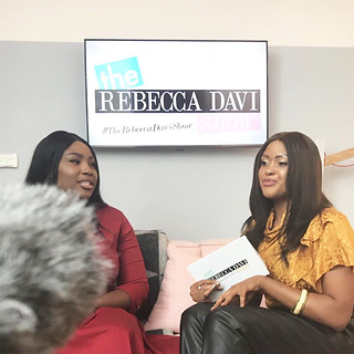 Rebecca interviewing Model & Body Confidence Activist Olakemi who has modelled and featured from the likes of Vogue to Verywell Magazine