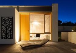 Woodland m night modern exterior