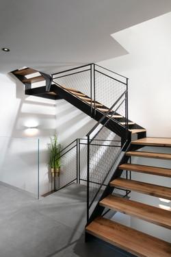 מדרגות ברזל מודרני