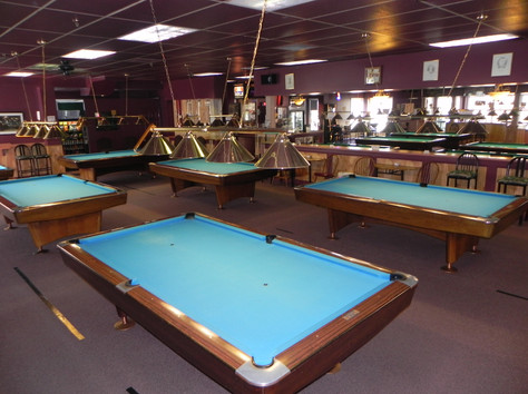Players Billiards view from pool table 22
