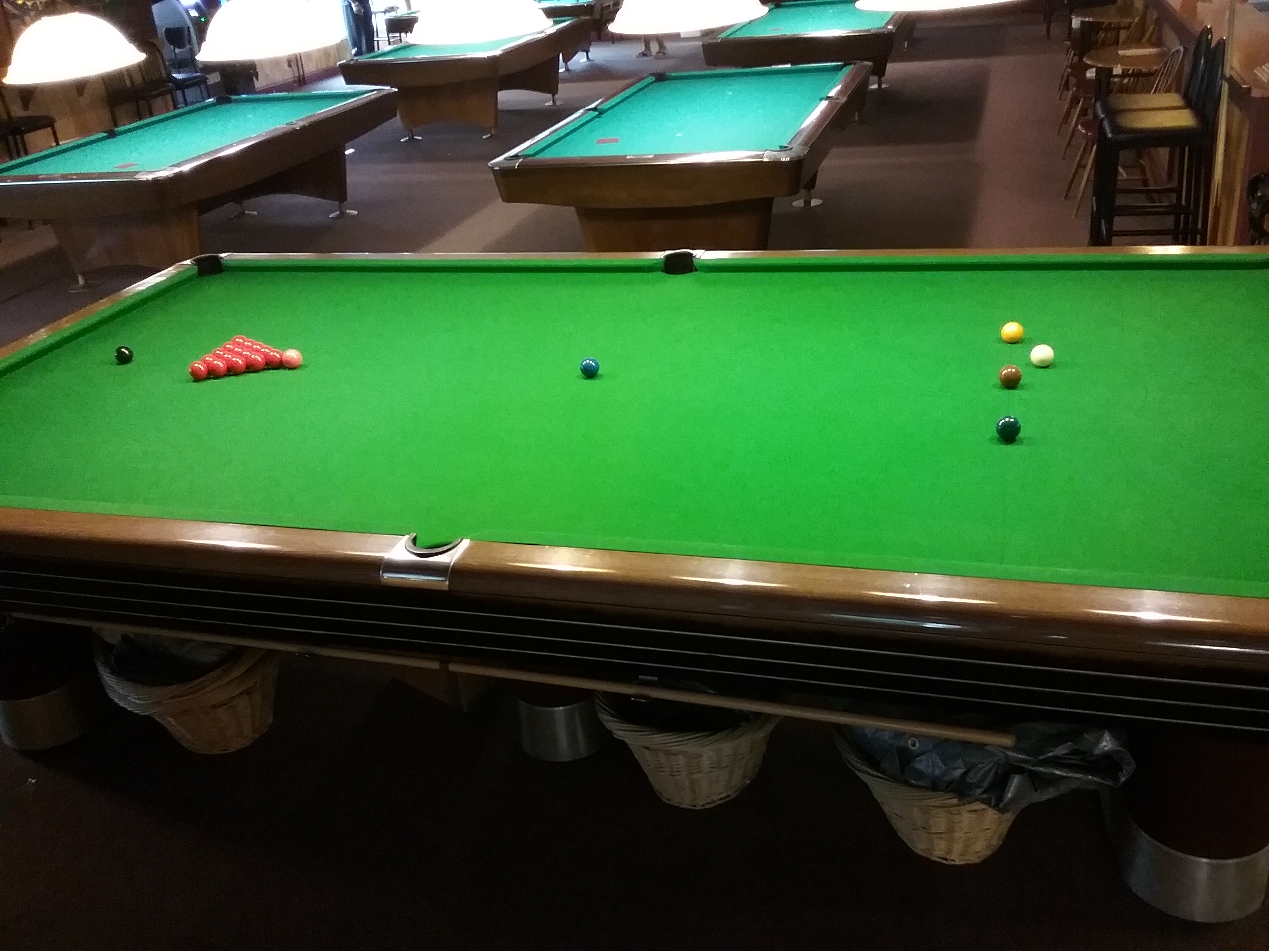 Snooker setup side profile