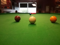 Snooker shot from the D