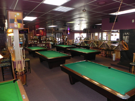 Players Billiards view from Pool Table 14 to table 8