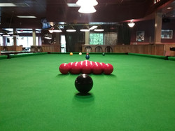 Snooker setup from rackers position