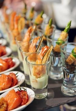 Asparagus, Prawns, Tomatoes