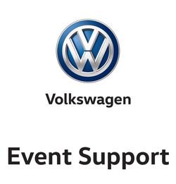 VW Event Support Vinyl Decals NEW x 2